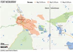 fort mcmurray alberta canada map how big is the fort mcmurray macleans ca