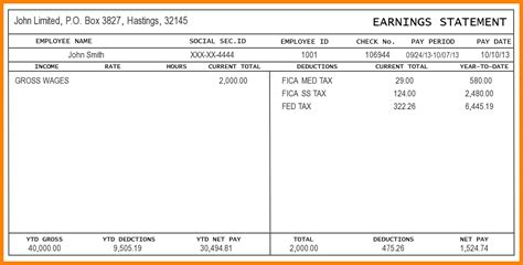 5 Pay Stub Template Word Secure Paystub Microsoft Word Pay Stub Template