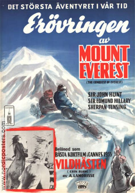 film everest hillary the conquest of everest movie poster 1953 original