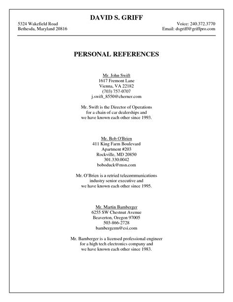references example resume sample with reference list examples of how