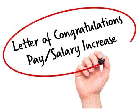 Pay Raise Congratulations Letter salary increment letter complaint format receipt template