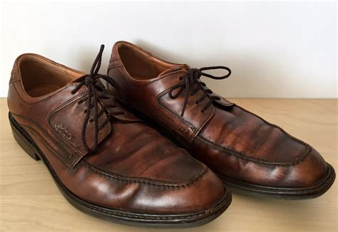 ecco mens brown leather oxford lace up dress shoes size 11 11 5 us 44 eu ebay