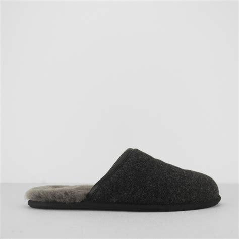 ugg mule slippers ugg scuff novelty mens wool slip on mule slippers black
