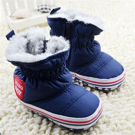 Baby Shoes Prewalker Will Navy 2016 new baby boy snow boots worm fleece winter navy