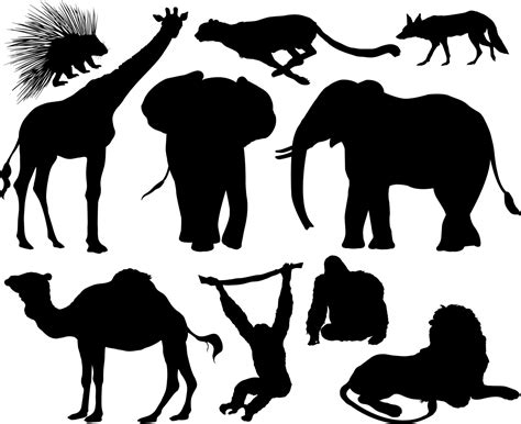 printable zoo animal silhouettes kudu silhouettes etsy bush wedding pinterest silhouettes