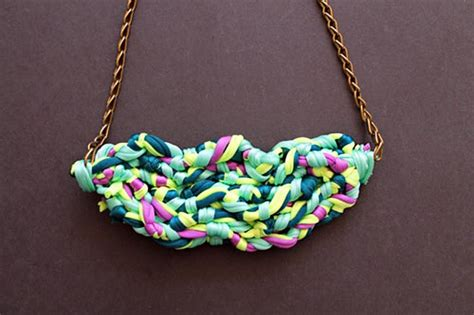 diy chain jewelry diy fabric necklace 183 how to make a fabric necklace 183 jewelry on cut out keep