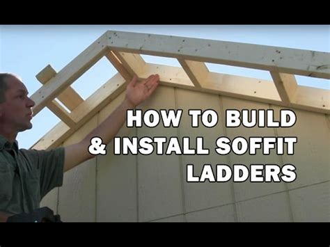 build  shed   build roof rake ladders