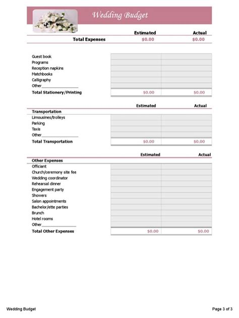 Wedding Budget Guidance by Wedding Budget Planner For Free Page 3