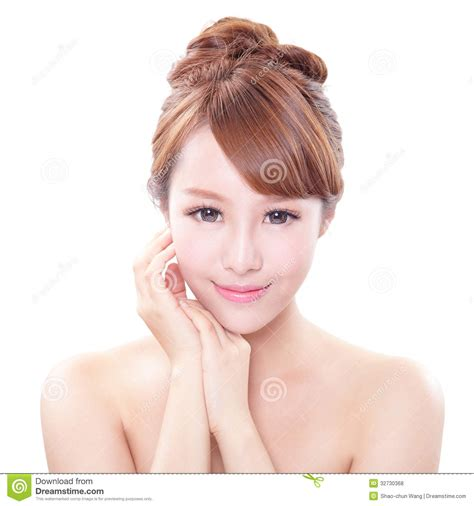 pretty little asian girl perfect skin stock photo woman with beauty face and perfect skin stock photo