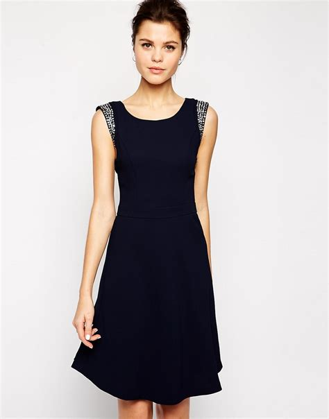 A Pretty Embellished Navy Dress From Warehouse by Sparkly Dresses