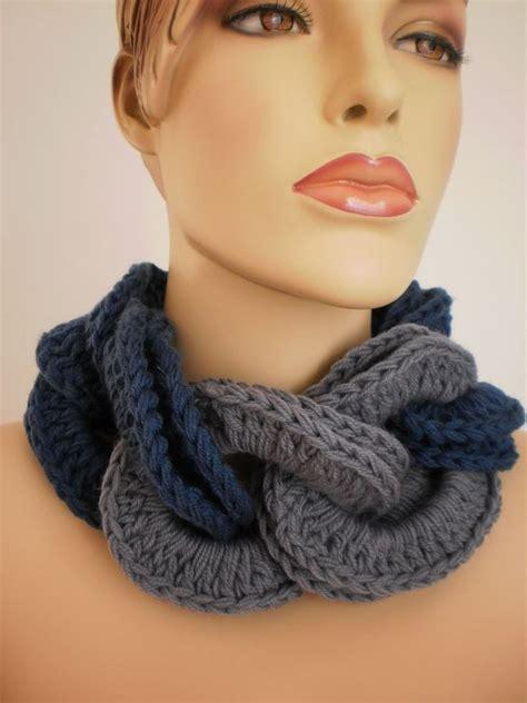 pattern knit cowl neck scarf crocheted cowl scarf neck warmer knit crochet neckwear