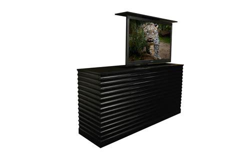 tv lift cabinets for flat screens flat screen tv riser accord ebony tv lift cabinets