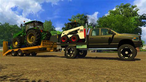cummins pickup bed log truck for fs15 farming simulator ls 2013 2008 dodge cummins v 1 0 pkws mod f 252 r