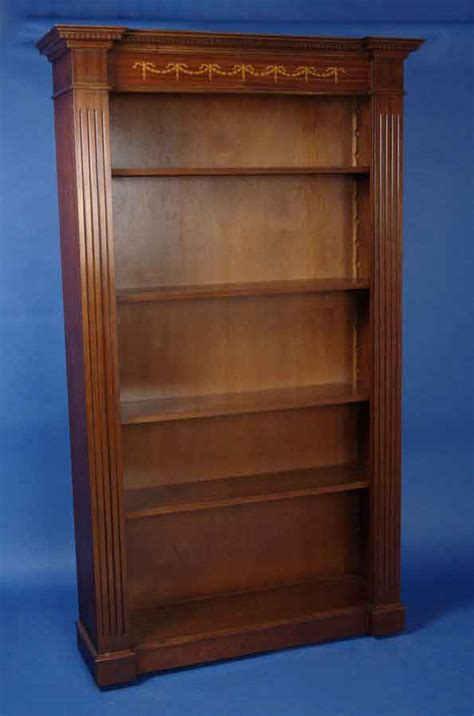 antique style mahogany breakfront bookcase for sale