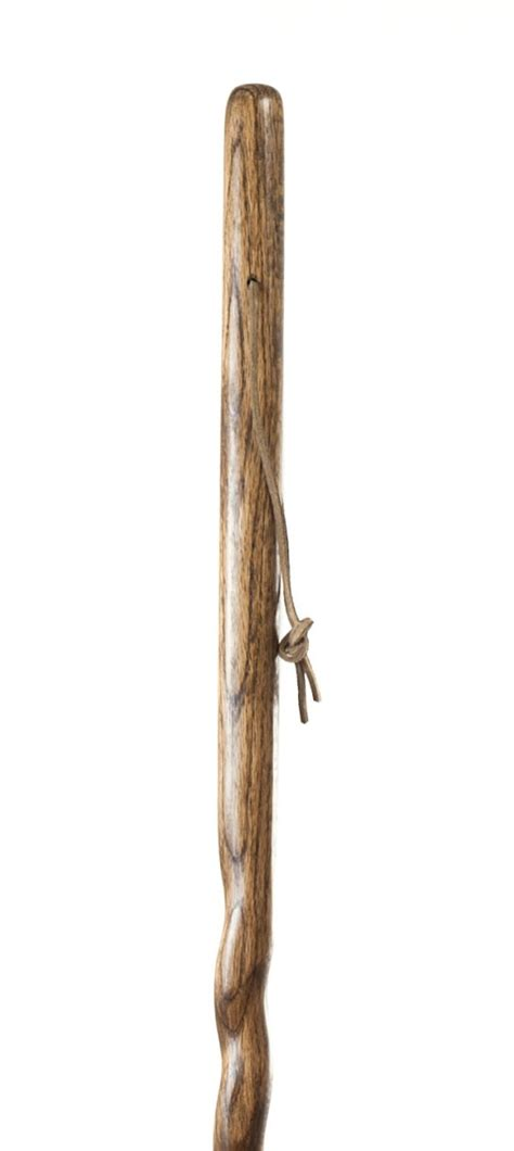 walking stick or brazos twisted hickory backpacker wood walking stick hiking trekking pole