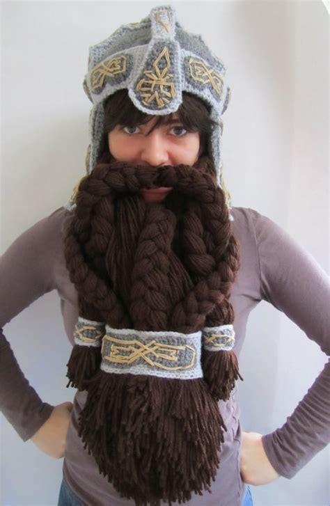 dwarven beard epic crocheted dwarven helmet to keep you warm