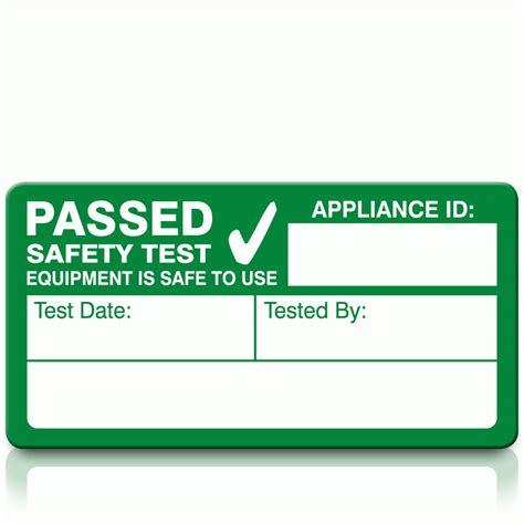pat testing labels template pat testing