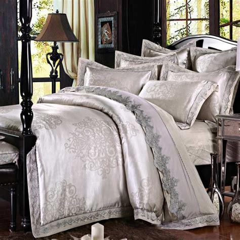 grey satin comforter grey satin silk jacquard bedding set queen king size 4pcs