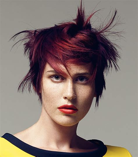 Sassoon Short Red straight hairstyles ? Yoko?s Haute Coiffure