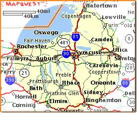 Map Of Central New York by Map Of Central New York Information And Links