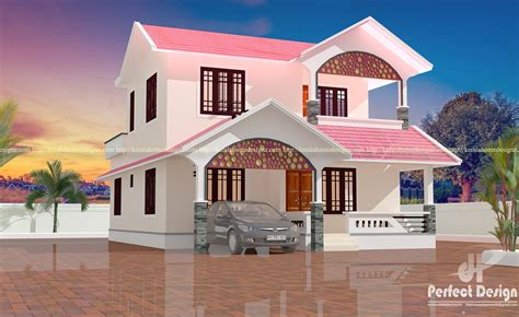 double floor modern style home design 2015 4 bedroom modern home design kerala home design