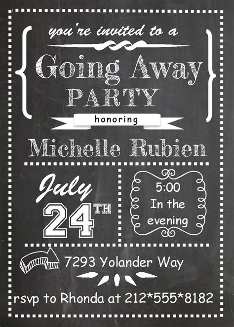Going Away Card Template by Goodbye Invitation Template Free