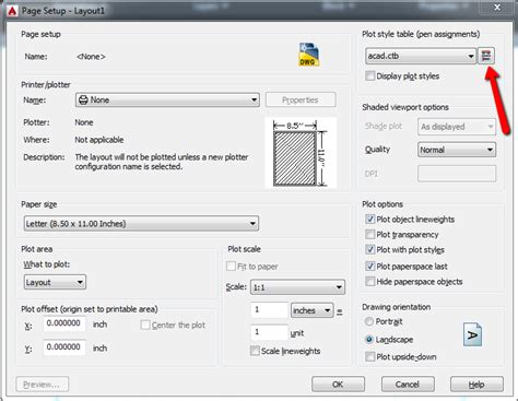view printable area autocad plot all objects black regardless of output device