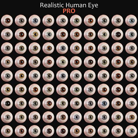 eye colors list 3d human eye andor kollar character artist