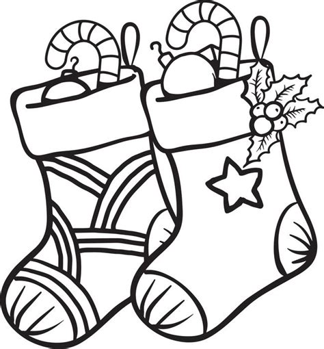 coloring pages for christmas stocking free printable christmas stockings coloring page for kids