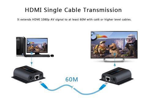 hdmi cable 5 meters lazada hdmi extender via cat 6 cable support ir 60 meter