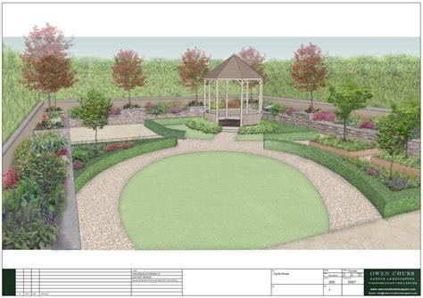 large garden layout design large rural garden design owen chubb garden landscapers