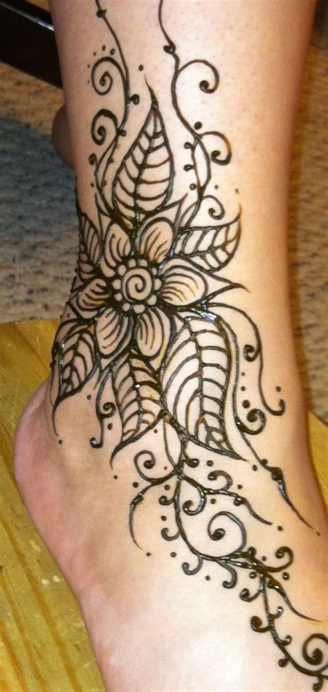 where can you get a henna tattoo henna flowered ankle henna by cynthia mcdonald