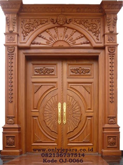Gebyok Kusen Pintu Ukir model kusen pintu kupu ukir klasik kusen pintu utama ukir jati toko furniture jepara