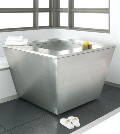 stainless steel bathtub new julien stainless steel soaking tub by troy adams design