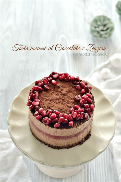 Gluten Free Chiffon Cake 18cm torta mousse al cioccolato e zenzero madame gateau