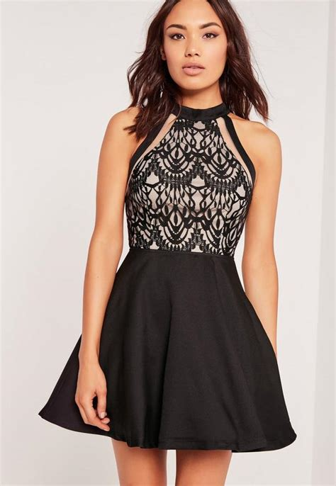 Black Rope Tops by Robe Patineuse Buste Tulle Et Dentelle Missguided
