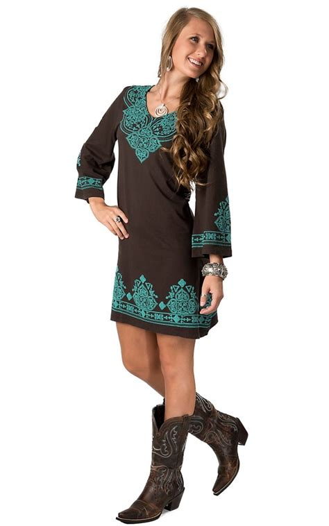 7 Ways To Wear Turquoise by Turquoise Brown Dress Western Wear Pink
