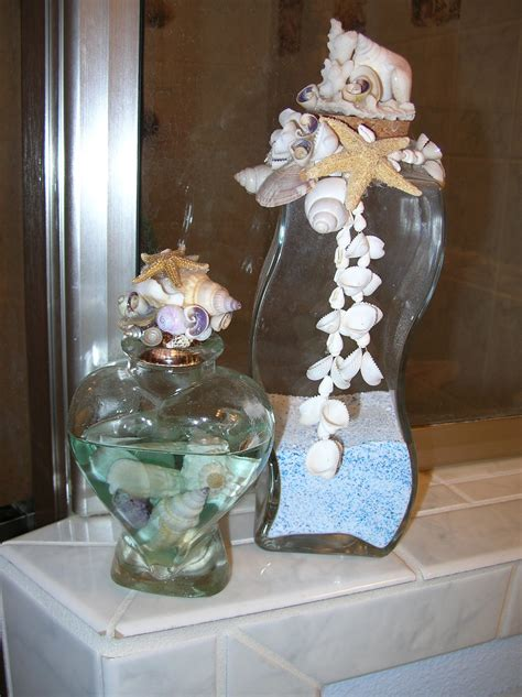 ideas for bathroom decorating theme with natural seashells ornament for decorating ideas for