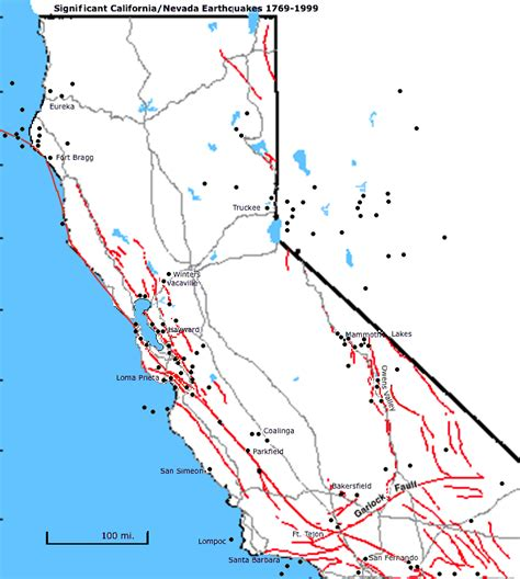 california map fault lines fault zones northern california