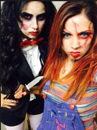 scary halloween costumes  teenage girl  friends