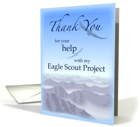 eagle scout thank you card template thanks eagle scout project sky thank you card 772391