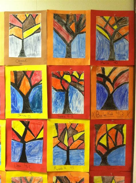 fourth grade crafts abstract trees fourth grade 4th grade