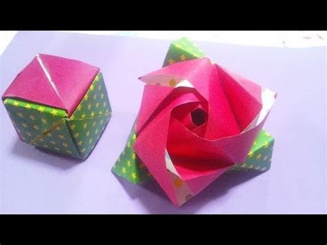 origami magic cube valerie vann 折り紙 マジックローズ origami magic cube valerie vann