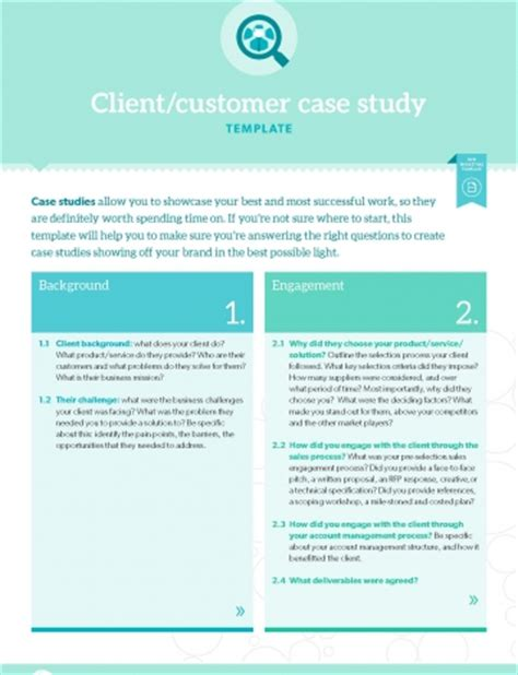 client study template template client customer study b2b marketing