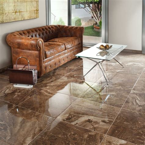 Tiled Lounge Floors by Crystalline Effect Polished Porcelain Tiles These