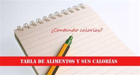 calorias y alimentos tabla de calor 205 as de todos alimentos actualizada