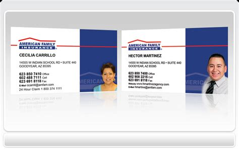 american commerce insurance company card template american business cards gallery business card template