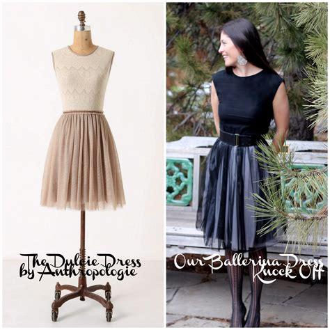 tutorial design dress the ballerina dress an anthropologie knock off