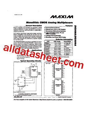 บร ษ ท maxim integrated products thailand co ltd dg508a 데이터시트 pdf maxim integrated products