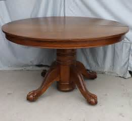 antique oak dining room table with claw feet decor antique victorian oak round dining room extension table as